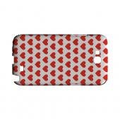 Red Hearts on White Geeks Designer Line Heart Series Slim Hard Case for Samsung Galaxy Note 2