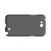Thin Black/ White Diagonal - Geeks Designer Line Stripe Series Hard Case for Samsung Galaxy Note 2
