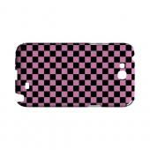 Pink/ Black - Geeks Designer Line Checker Series Hard Case for Samsung Galaxy Note 2