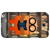 Studious Orange Robot Geeks Designer Line Androitastic Series Slim Hard Back Cover for Samsung Galaxy Note 2