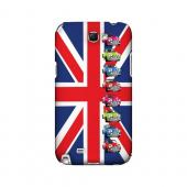 Multi Mini Coopers on Union Jack - Geeks Designer Line Auto Series Hard Case for Samsung Galaxy Note 2