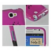 Hot Pink Skull w/ Bow Hard Case for Samsung Galaxy Note 2