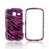 Samsung Freeform 3 Hard Case - Purple/ Black Zebra