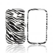 Samsung Freeform 3 Hard Case - Silver/ Black Zebra