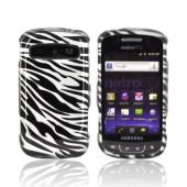 Samsung Rookie R720 Hard Case - Silver/ Black Zebra