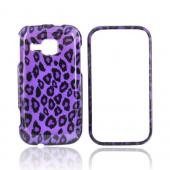 Samsung Galaxy Indulge R910 Hard Case - Leopard Print on Purple