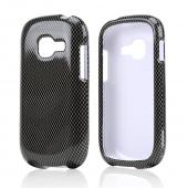 Black/ Gray Carbon Fiber Design Hard Case for Samsung Galaxy Centura