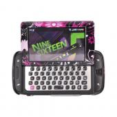 Samsung Sidekick 4G Hard Case - Pink Flowers & Butterflies on Black