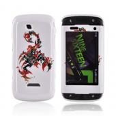 Samsung Sidekick 4G Hard Case - Red/ Black Scorpion on White
