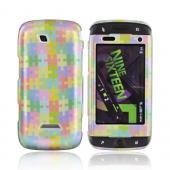 Samsung Sidekick 4G Hard Case - Rainbow Puzzle Pieces