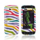 Samsung Sidekick 4G Hard Case - Rainbow Zebra on White
