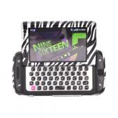Samsung Sidekick 4G Hard Case - Black/ Silver Zebra