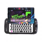 Samsung Sidekick 4G Hard Case - Star Blast & Butterflies on Teal/ Black