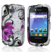 Samsung Dart T499 Hard Case - Pink Flowers on White