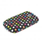 Samsung Dart T499 Hard Case - Rainbow Polka Dots on Black
