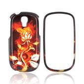 Samsung Gravity Smart Hard Case - Flaming Rose on Black