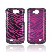 Samsung Exhibit 2 4G Hard Case - Purple/ Black Zebra
