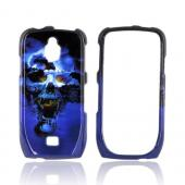 Samsung Exhibit T759 Hard Case - Blue Skull