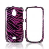 Samsung Exhibit T759 Hard Case - Purple/ Black Zebra