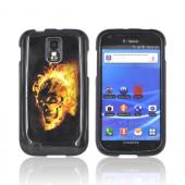 T-Mobile Samsung Galaxy S2 Hard Case - Flaming Skull on Black