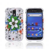 T-Mobile Samsung Galaxy S2 Hard Case - White & Green Flowers on White