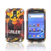 T-Mobile Samsung Galaxy S2 Hard Case - Yellow Danger Skull