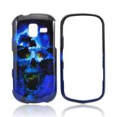 Samsung Intensity III Hard Case - Blue Skull