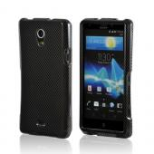 Black/ Gray Carbon Fiber Design Hard Case for Sony Xperia TL