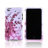 Apple iPod Touch 4 Hard Case - Pink Cherry Blossoms on White