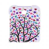 ZTE Score X500 Hard Case - Black Tree w/ Multi-Colored Hearts on White