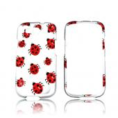 Samsung Galaxy S3 Hard Case w/ Bling - Red Ladybugs on Silver