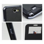 Dark Gray Exclusive CellLine Diary Flip Cover Hard Case w/ ID Slot & Satin Cover for Samsung Galaxy Note 2