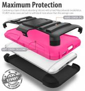 HTC 10 Holster Case, REDshield [Hot Pink] Supreme Protection Hard Plastic on Silicone Skin Dual Layer Hybrid Case