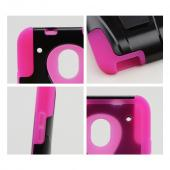 Black Hard Case w/ Kickstand Over Hot Pink Silicone Skin Case for HTC One Mini