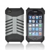 Ventev GRIPGuard Apple iPhone 4/4S Hard Shell on Silicone Case - Transformer Black/ Gray