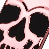 Apple iPhone 7 (4.7 inch) Case, Skull Hybrid Dual Layer Hard Case on Silicone Skin [Rose Gold]