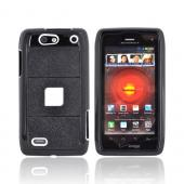 Motorola Droid 4 Hard Case on Silicone - Black