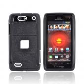 Motorola Droid 4 Hard Case on Silicone - White/ Black
