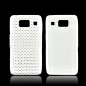 Motorola Droid RAZR HD Hard Back Case Cover on Silicone - White Mesh on White