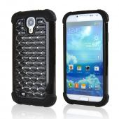 Black Hard Cover w/ Bling Over Black Silicone for Samsung Galaxy S4