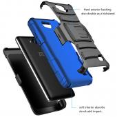 Samsung Galaxy J1 Holster Case, REDshield [BLUE] Supreme Protection Plastic on Silicone Dual Layer Hybrid Case