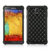 Black Hard Cover W/ Bling Over Black Silicone Skin Case for Samsung Galaxy Note 3