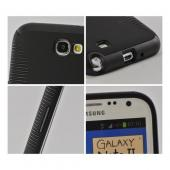 Black Hard Back on Black Crystal Silicone Case for Samsung Galaxy Note 2