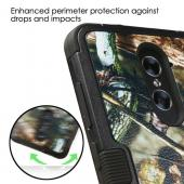 ZTE Zmax Pro Case, TUFF Hybrid Dual Layer Hard Case on Silicone Skin [English Oak -Hunting Camouflage]