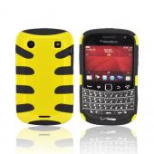 Blackberry Bold 9900, 9930 Hard Fishbone on Silicone Case - Yellow/ Black