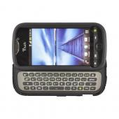 HTC Mytouch 4G Slide Hard Rubberized Fishbone on Silicone Case - Black