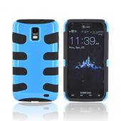 Samsung Galaxy S2 Skyrocket Hard Fishbone on Silicone Case - Turquoise/ Black