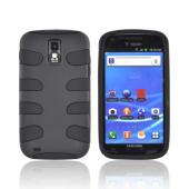 T-Mobile Samsung Galaxy S2 Rubberized Hard Fishbone on Silicone Case - Black
