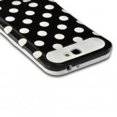 Black/ White Polka Dots Glow in the Dark Hard Cover on Silicone Case for Samsung Galaxy Note 2