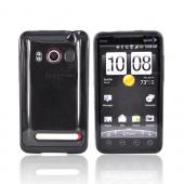 Luxmo HTC EVO 4G Hard Back w/ Gummy Silicone Lining - Smoke/Black